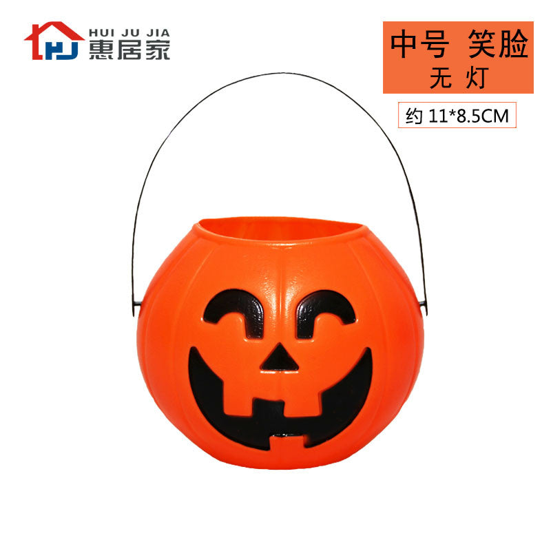 Halloween night Jack-O-Lantern bar decoration props candy pumpkin pot children carrying pumpkin pail