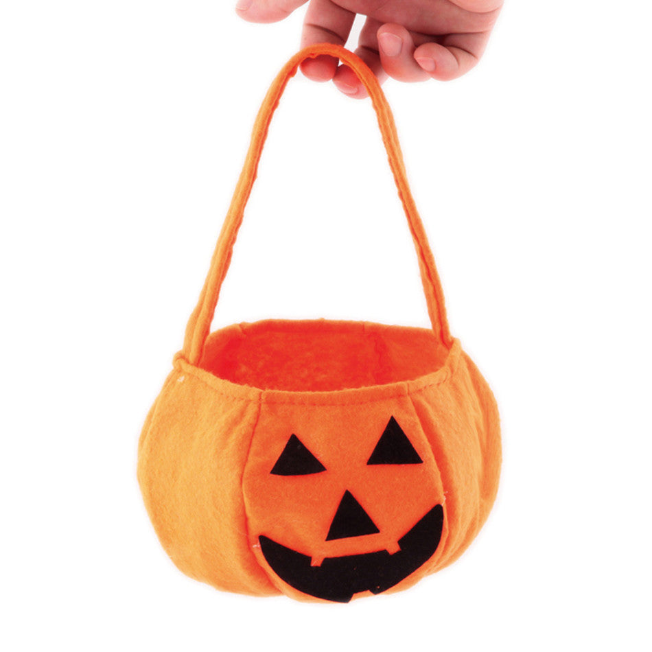 2016 New Portable Pumpkin Bag Kids Non-woven Smile Candy Bag Carnival Halloween Props Decoration Party Supplies