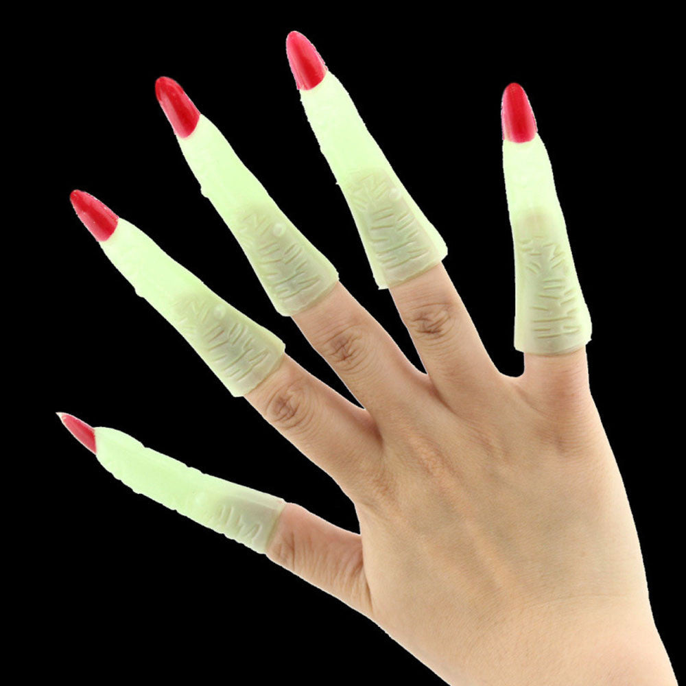 Halloween zombie witch costume party supplies props luminous false nail sets Halloween Clothing Scary Costumes