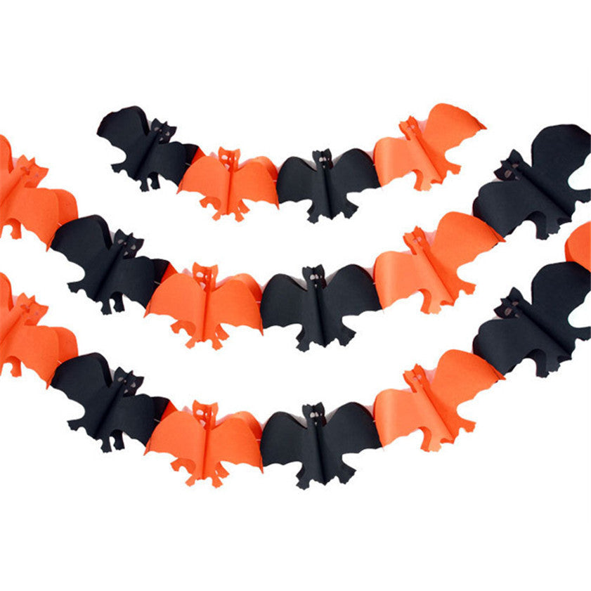 High Quality Pumpkin Styles Decorations Paper Garland Decoration For Halloween Props