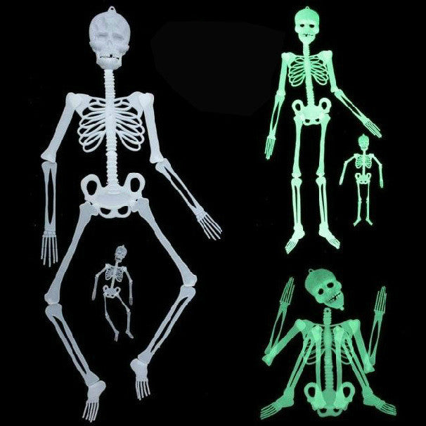 Scary Halloween Decorations Horror Luminous Movable Skull Skeleton Halloween Props Glow Evil Party Favors event party supplies