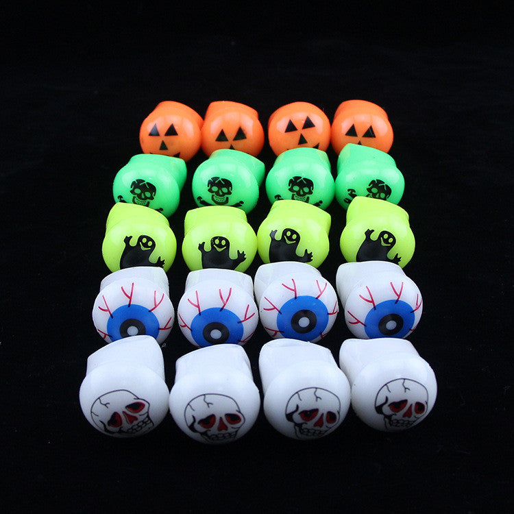 Halloween Flashing ring soft flash ring light ring dance props Kito Sale