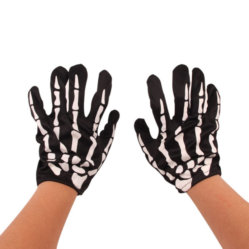 1 Pair/Lot Halloween Festival Party Magical Gloves Skeleton Mittens Props Accessories Ghost Claw Punk Gift Free Shipping - Blobimports.com