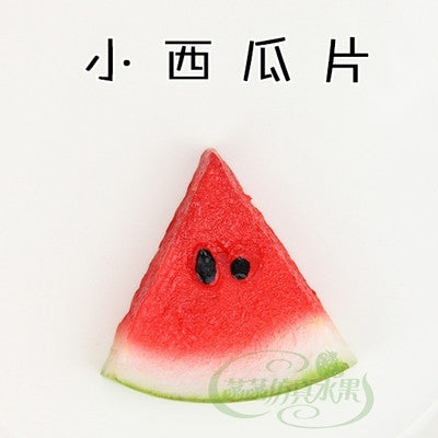 Pvc small watermelon slice model film props kitchen cabinet