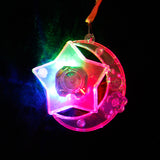 Free shipping flash necklace masquerade party wedding party dress Halloween props Christmas decorations luminous pendant
