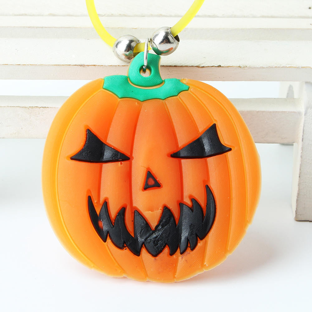 2015 New Hot Party Prop Pumpkin Halloween Glow Cute Pumpkin Necklace Cos play Dress HG02883S01