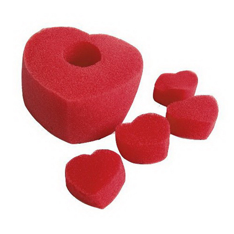 Magic Trick Sponge Heart Close Up Street Magic Accessories ( One Big And Four Small) Close-Up Magic Halloween Party Prop Red