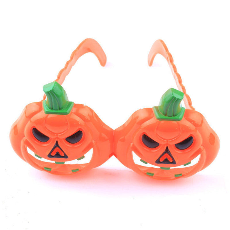 Funny Halloween Pumpkin Shaped Plastic Glasses Cosplay Prop for Party Fancy Costume Ball Prop Pumpkin Glasses Free Shipping