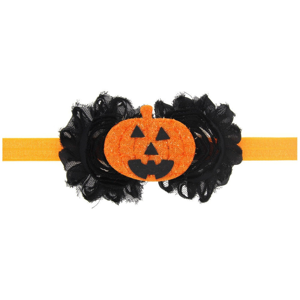 Pumpkin Headbands Halloween Headband Latern Heaband Newborn Infant Toddler Halloween Costume Flower bows photo prop 1pc HB598