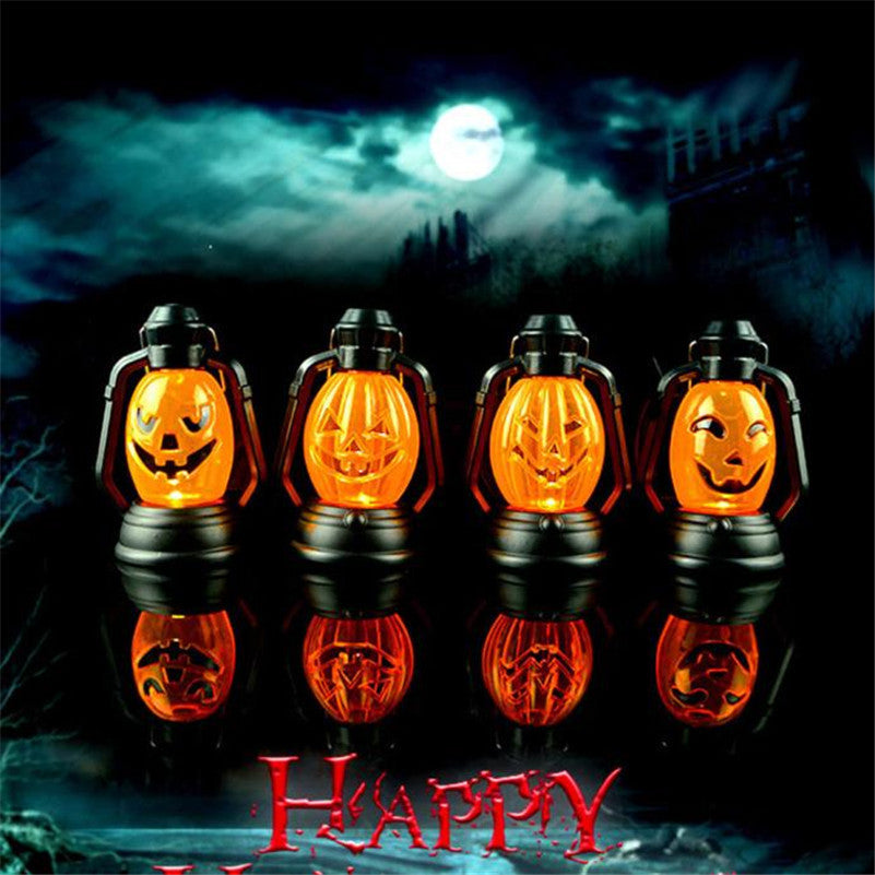 Tao town 4 pattern plastic Halloween Scene Decorative Props Luminous Night Light Kerosene Lamps Halloween supply free shipping