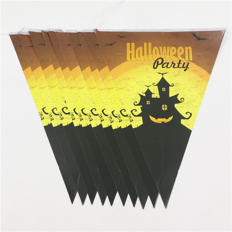 1pc Halloween bunting Wedding Birthday Party Decoration Baby Shower Photo Prop Room Garden Garland Home Decoration