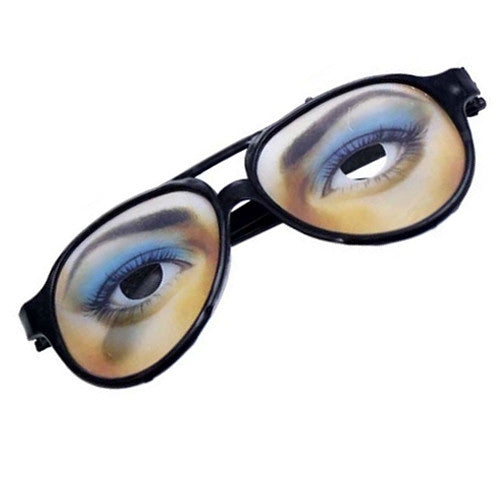 Funny Jokes Glasses With Eyebrow Trick Toys Halloween Cosplay Party Props Toys