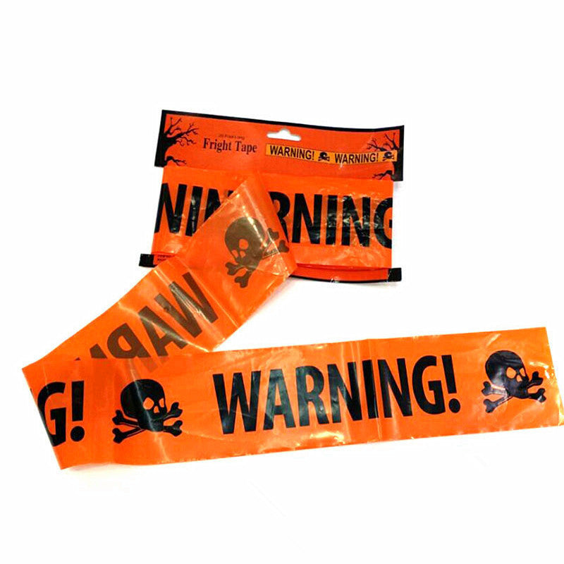 Halloween Party Warning Tape Signs Decoration Window Prop Spoof Decoration Plastic