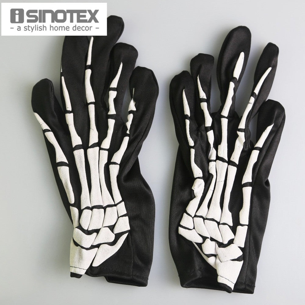 1 Pair/Lot Halloween Festival Party Magical Gloves Skeleton Mittens Props Accessories Ghost Claw Punk Gift - Blobimports.com