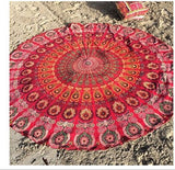 Tofashion 2016 New Summer Large Microfiber Printed Round Beach Towels With Tassel Circle Beach Towel  Free shipping