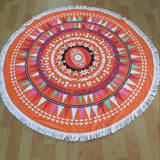2016 New Summer Large Microfiber Printed Round Beach Towels With Tassel Circle Beach Towel Serviette De Plage Round Blankets