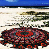 Polyester Round Scarf Boho Gypsy Round Beach Towel Summer Large Microfiber Printed Circle Beach Towels