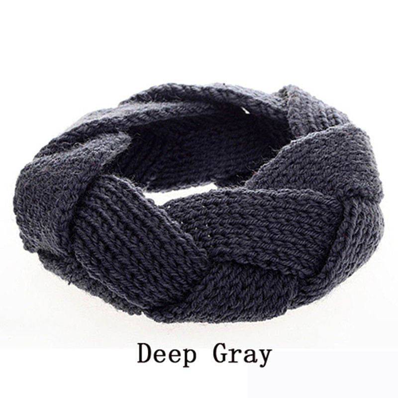 1 pc Crochet Twist Knitted Headwrap Winter Warmer Hair Band for Women clothing Accessories headband 9 colors
