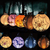 1 pcs Halloween Decoration LED Paper Pumpkin Bat Spider Light Hanging Lantern Lamp Halloween Props Outdoor Party Supplies - Blobimports.com
