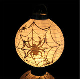 1 pcs Halloween Decoration LED Paper Pumpkin Bat Spider Light Hanging Lantern Lamp Halloween Props Outdoor Party Supplies