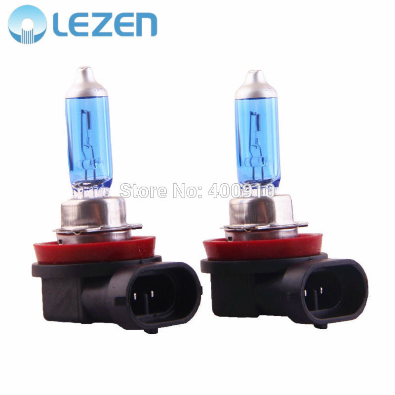 LEZEN 2pcs H11 Halogen Xenon Head Lamp Fog Light Super White 12V 55W 5000K - 6000K for Car Auto Low Beam