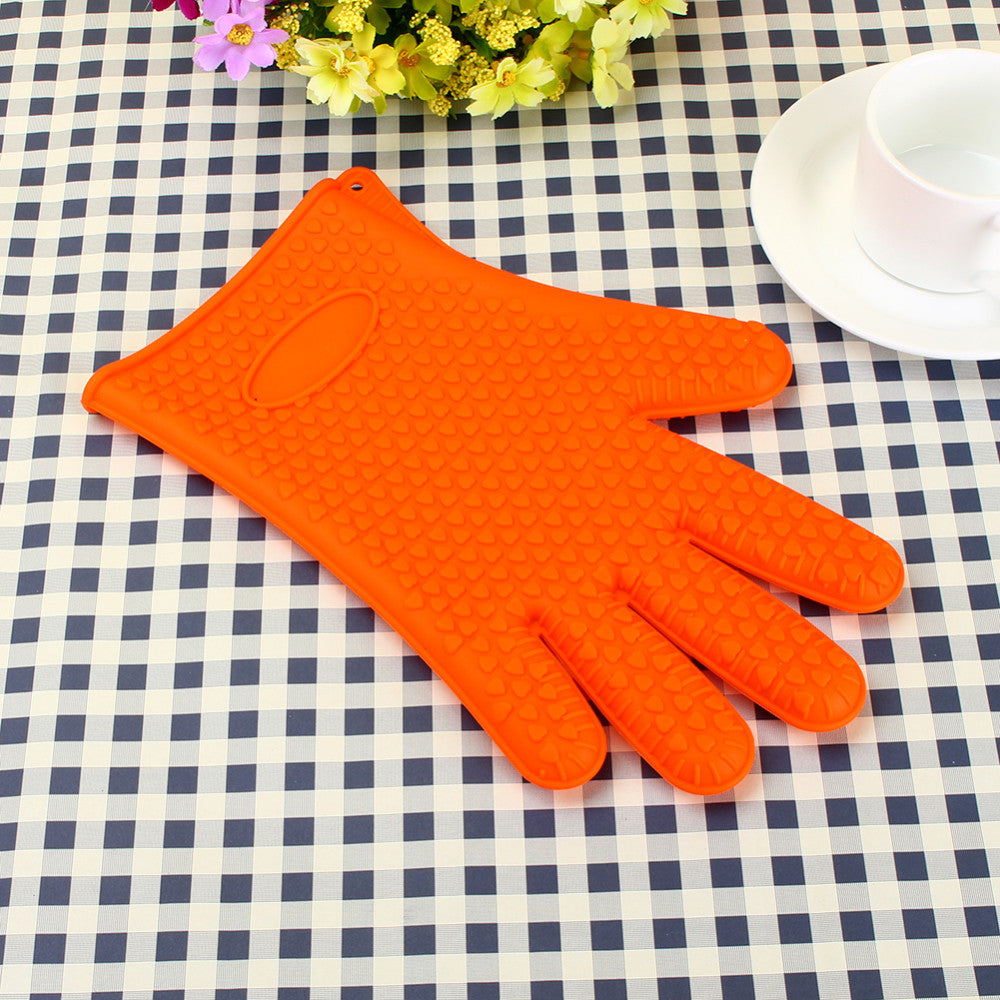 Heat Resistant Silicone Glove Cooking Baking BBQ Oven Pot Holder Mitt Kitchen Accessories