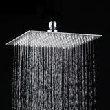 8 inch /20 cm Shower Head Round / Square Chuveiro Stainless Steel Ultra-thin Showerheads 8 inch Rainfall Shower Head Rain Shower