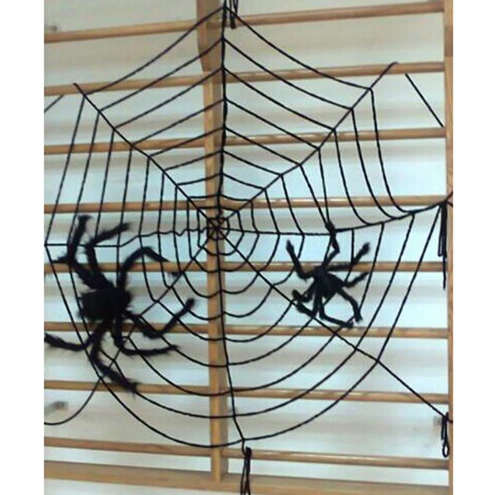 2016 Spider Web Halloween Decoration Party Supplies Gifts Black White Cloth Halloween Scene Layout Spider Cobweb Toy