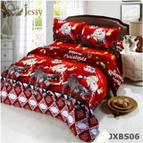 3D Bedding Sets Queen Size,Christmas Gift for Kids ,Merry Christmas Santa Claus Bedding Sets,Soft and Warm Bedding Set