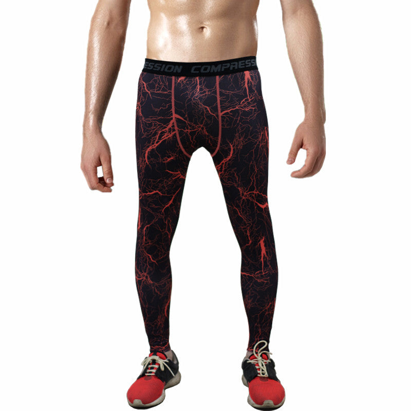 2016 Men compression pants  tights  pants bodybuilding mans joggers army green skinny leggings