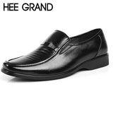 HEE GRAND 2016 New Man Dress Flats  Fashion Comfortable Black Shoes for Men Spring Autumn size 38-44 XMP088