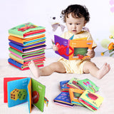 Baby Toy Teether Infant Sun Cloth Book Baby Toys 0-12 Months Early Learning & Education Animals Book For Kids Soft Baby Rattles