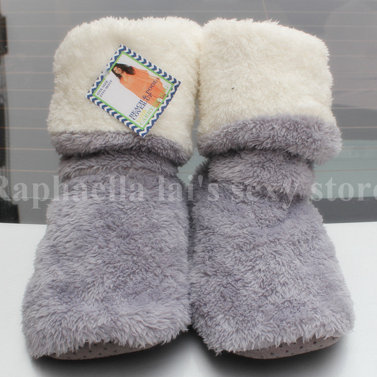 Free Shipping Home Soft Plush Home Shoes Slippers Coral Fleece Indoor Floor Socks , Indoor Slippers Winter Foot Warmer Best