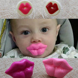 Top Silicone Pink Lip Funny Nipple Dummy Baby Soother Joke Prank Toddler Pacy Orthodontic Nipples Teether Baby Pacifier Care