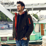 Simwood Men Parkas 2016 New Arrival Brand Winter Jacket Men Fashion Thick Slim Casual Outdoor Coat High Quality  MF1537