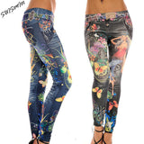Women Leggings Jeggings Pants Women Leopard Belt Colorful Printed Leggings