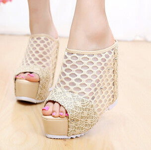 Wedges Shoes For Women 2016 Summer Slippers Female Ultra High Heels Sandals Platform Shoes Women's Casual Female Summer Shoes