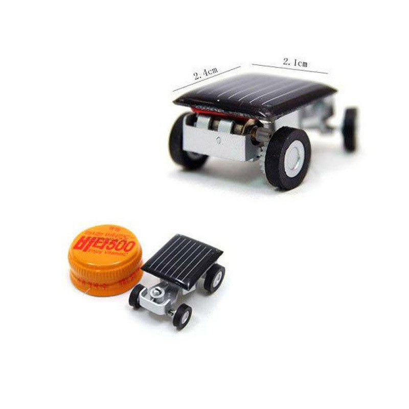Smallest Mini Car Solar Powered Toy Car New Mini Children Solar Toy Gift Baby Kid Solar Car Toy FCI#