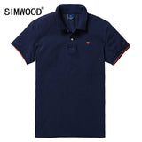 SIMWOOD 2016 New Men Polo Shirt Casual Short-sleeved Slim Fit Turn-down Collar Solid Shirts Plus Size Free Shipping TD943