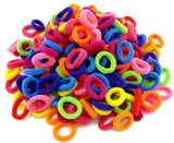 Wholesale 100 Pcs Colorful Child Kids Hair Holders Cute Rubber Hair Band Elastics Accessories Girl Women Charms Tie Gum