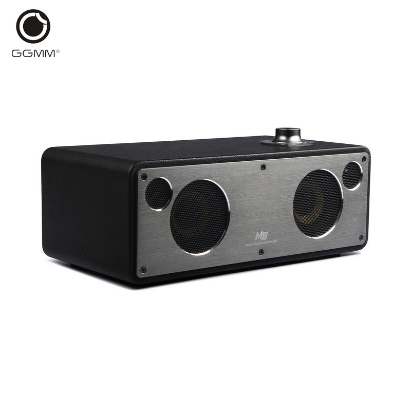GGMM M3 Wireless Bluetooth Speakers Audio Subwoofer Wooden WiFi HiFi Computer Speaker of the House Stereo Sound System Receiver