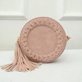 Round Women Tassel Bag  Woven Crossbody Bags For Womens Shoulder Bag Ladies Cute Knitting Circular Women Messenger Bags Summer