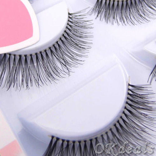 5 Pairs Natural Sparse Cross Eye Lashes Extension Makeup Long False Eyelashes maquiagem