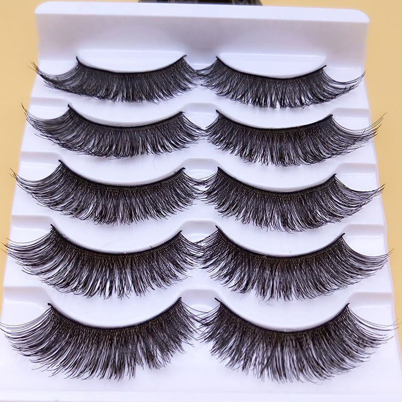 Makeup Thick False Eyelashes Eyelash Cross Naturally Slim False Eyelashes Sexy Thick Stage Makeup Smoked Big Eyes Fake Eyelashes