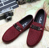 Red Bottoms Loafers Black Men Shoes Slip On Men's Leisure Flat Shoes Fashion Male Breathable Moccasin Loafers Driving Shoes 3A