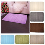 2016 New 1pcs  Memory Foam Bath Mat  Bathroom Horizontal Stripes Rug Non-slip Bath Mats 7 Solid Colors Available 40*60cm