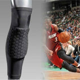 Professional Breathable Sports Men Honeycomb Long Knee Support Brace Pad Protector Sport Basketball Leg Sleeve Sports Kneepad