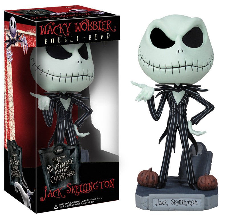 Free Shipping FUNKO The Nightmare Before Christmas Jack Wacky Wobbler Bobble Head PVC Action Figure Collection Toy Doll FKFG061