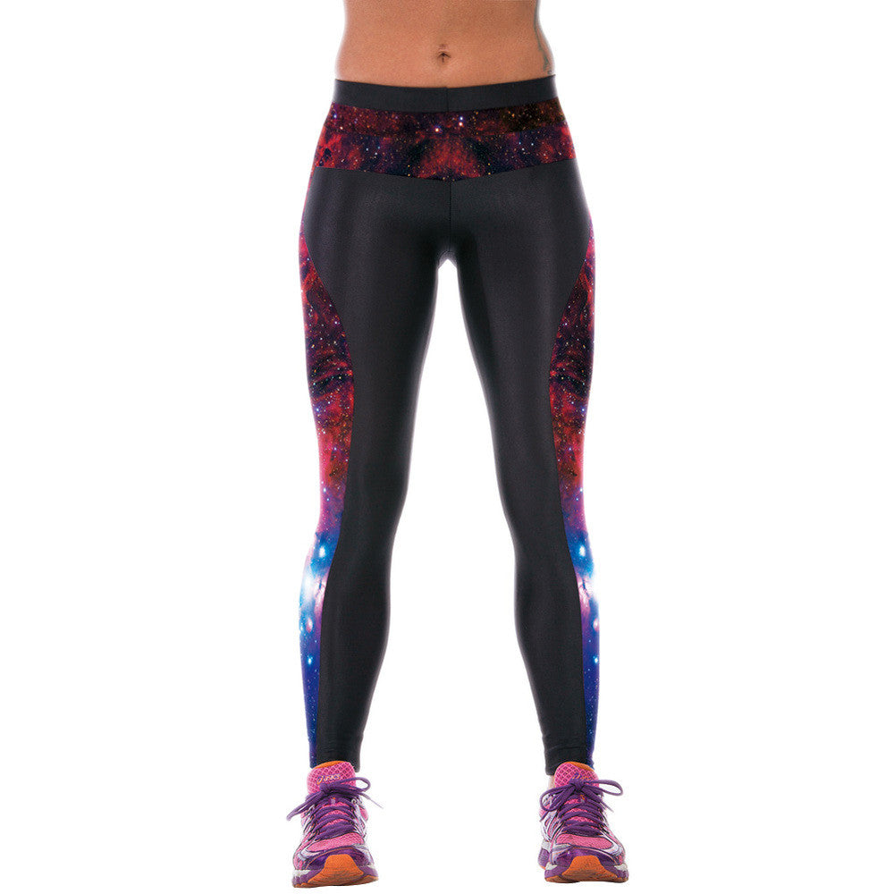 2016 High Elastic Slim Leggins Sexy Women Polyester Spandex Leggings Fitness Workout Trousers 3D Print Pants