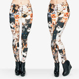 Girls Funny Leggin 3D Different Cute Cats Printed Leggings Women High Waist Leggings Pant With Stretched Casual Legging